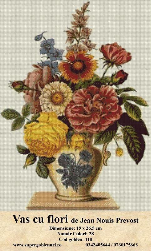 110 - Vas cu flori de Jean Nouis Prevost