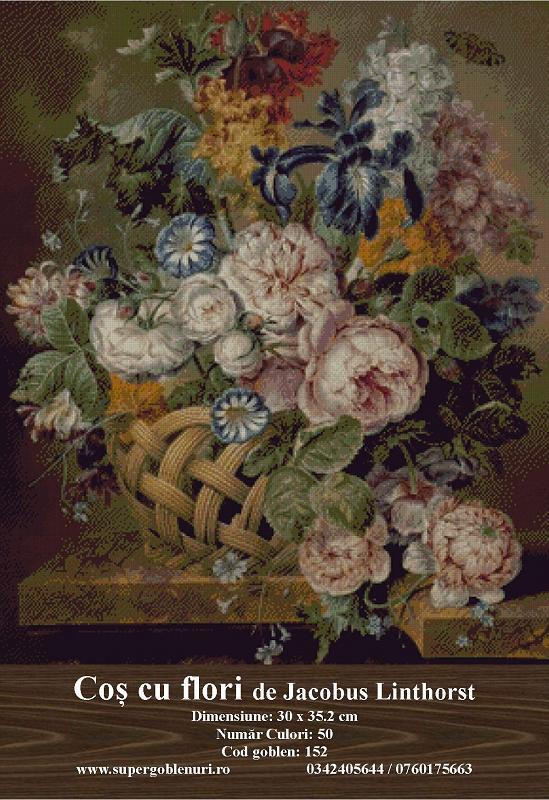 152 - Cos cu flori de Jacobus Linthorst