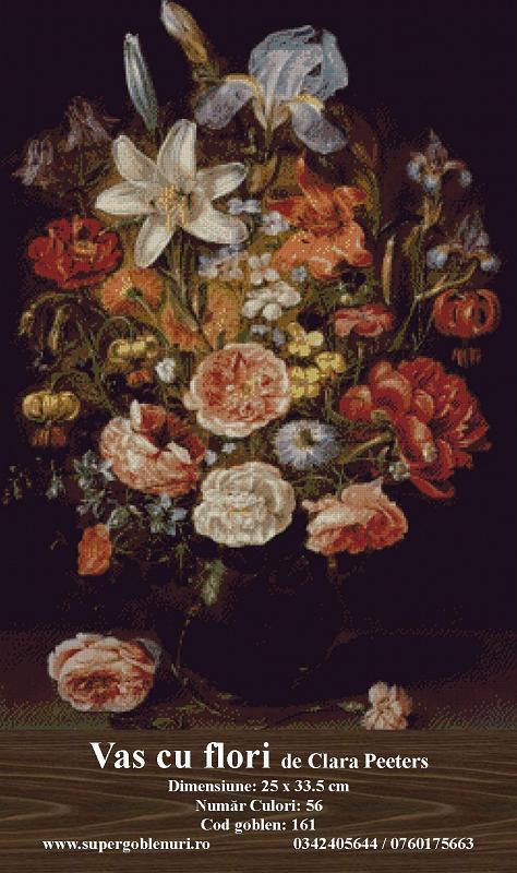 161 - Vas cu flori de Clara Peeters