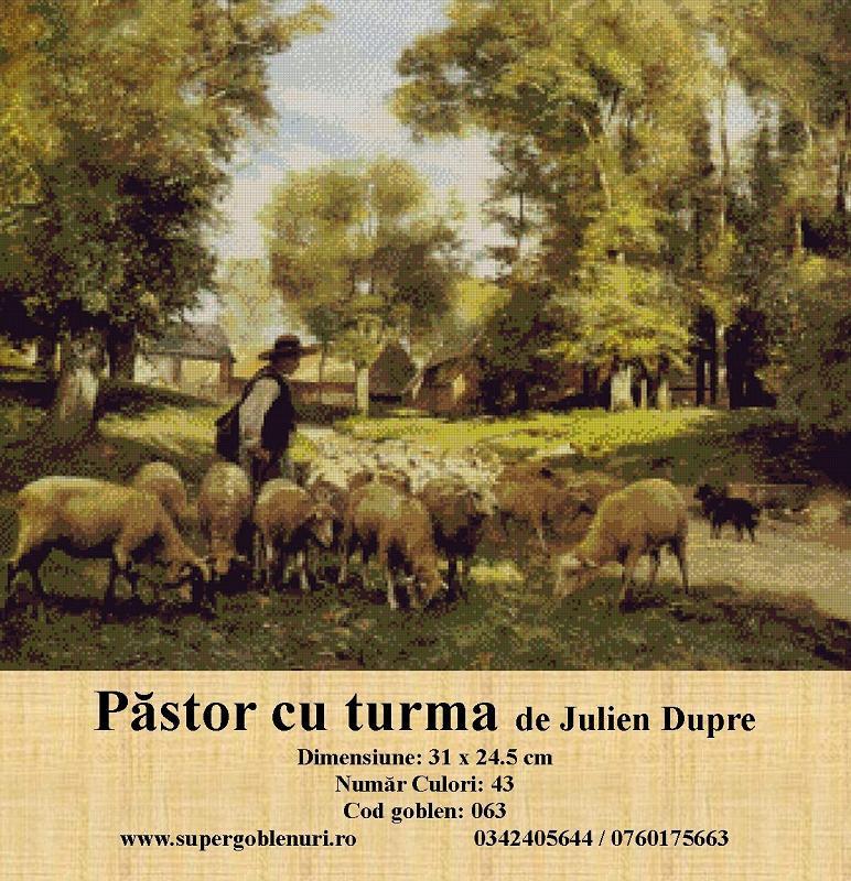 063 - Pastor cu turma de Julien Dupre