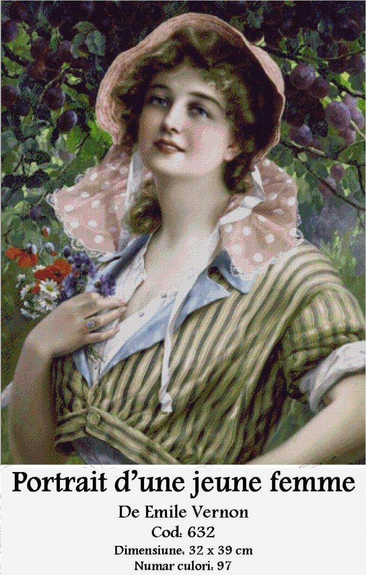 Set Goblen - Portrat d'une Jeune Femme