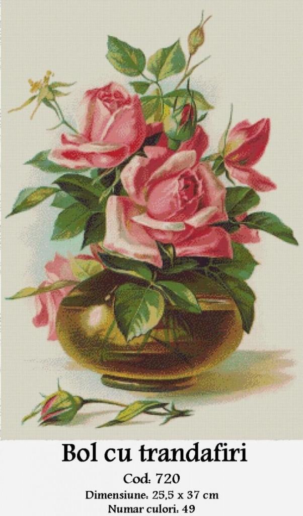 Set Goblen - Bol cu Trandafiri